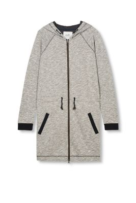 Lange Sweat Zippjacke