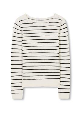 Striped jumper with a ribbed texture