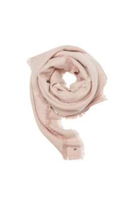 Soft two-tone woven scarf, twill texture