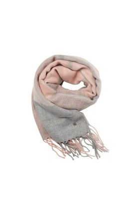 Soft woven scarf with large checks