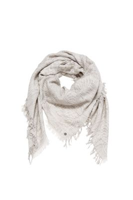 Jacquard scarf in a soft cotton blend