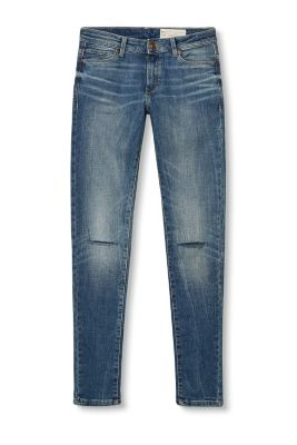 Stretchjeans met used look