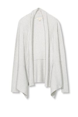 Soft fine knit ribbed cardigan