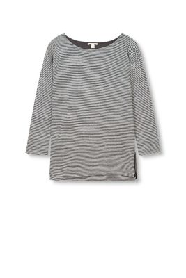 Soft striped double-faced jersey top