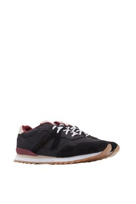 Sneakers con lacci in similpelle