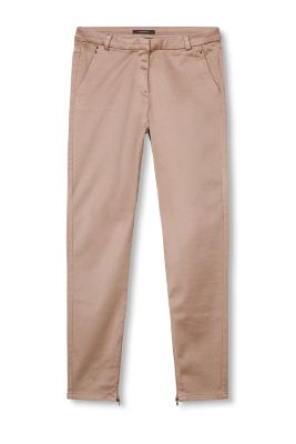 Smooth Satin Twillhose mit Stretch