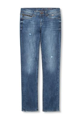 Destroyed 5-Pocket Stretch-Denim