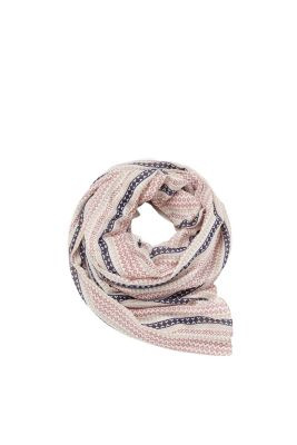 Delicate scarf with a minimal striped print