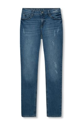 Ankle-Jeans aus Stretch-Denim