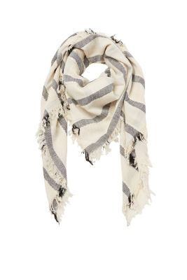 Scarf with effect stripes, 100% cotton