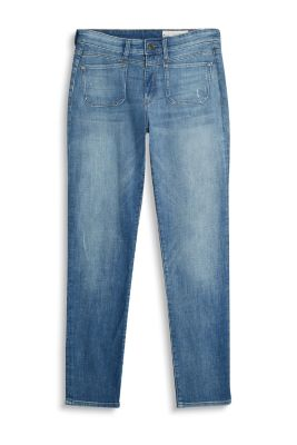 Girlfriend-jeans med variable opsmøg