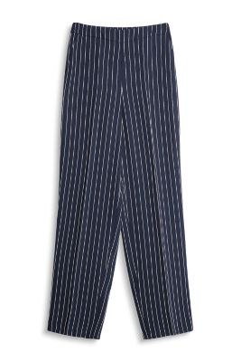 Wide suit trousers with pin stripes