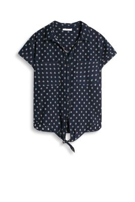 Knotted blouse, 100% cotton