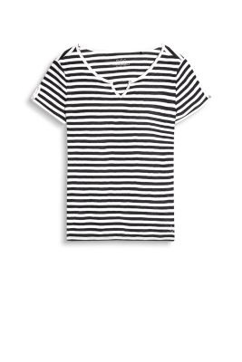 Striped Henley-style T-shirt