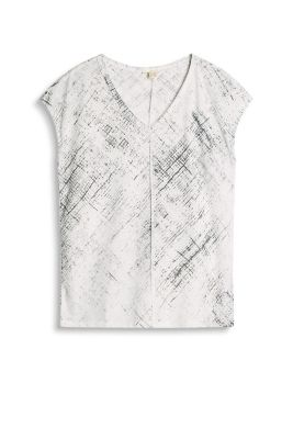 Casual shirt med abstrakt stribeprint