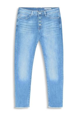 Cropped Denim aus Baumwolle