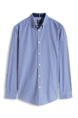 Button-Down Karohemd, 100% Baumwolle