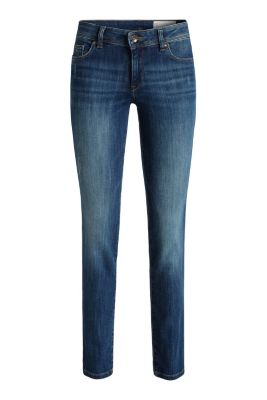 Schmale Stretch-Denim mit Used-Effekten