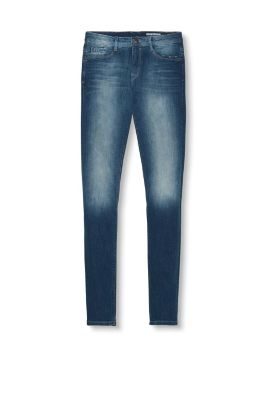 Stretch-Jeans mit Ripped-Effekten
