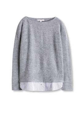 Softer Stretch-Pulli im Layer-Look