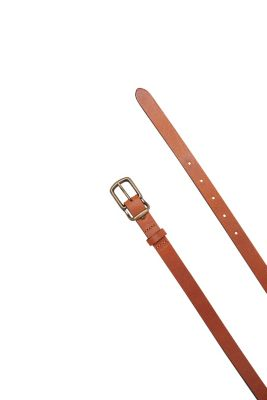 Narrow smooth leather belt