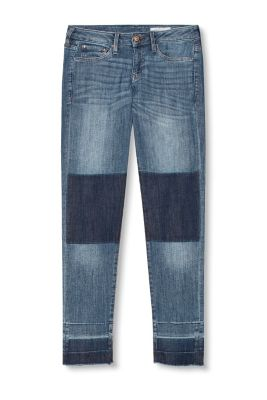 Patchwork-style stretch jeans