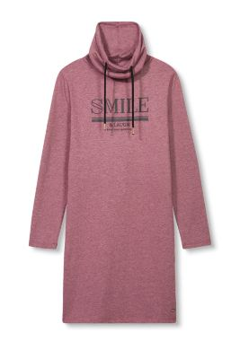 Sweatshirt-Kleid mit Statement-Print