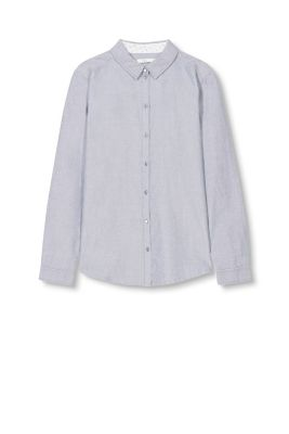 Chambray-Bluse, 100% Baumwolle