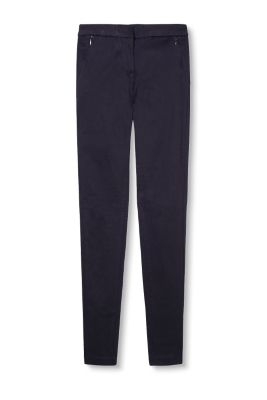 Stretch trousers in soft blended fabric
