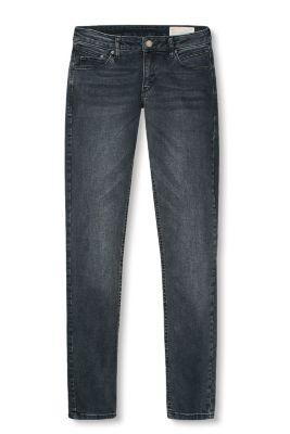 Stretch jeans in a dark blue garment wash