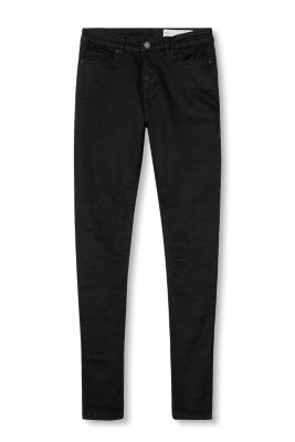 Skinny stretch jeans with a high rise waist