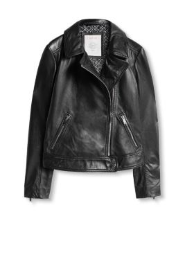 Soft leather jacket in a classic biker style