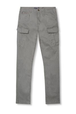 Casual stretch cotton cargo trousers