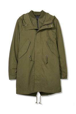 2-in-1: cotton parka with a bomber jacket