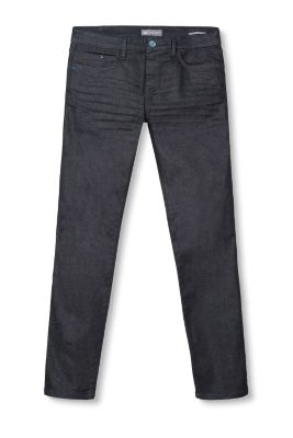 Mørke 5-pocket jeans i stretchdenim