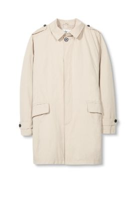 Blended cotton coat with light padding