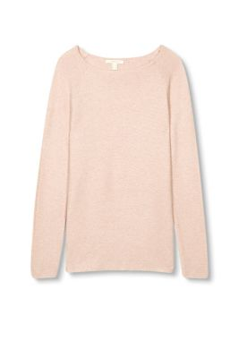 Fine knit basic jumper with cashmere