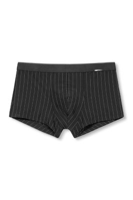 stretch shorts with pinstripes