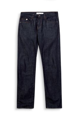 non-stretch dark washed jeans