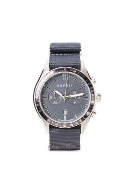 Grey-blue chrono with woven strap