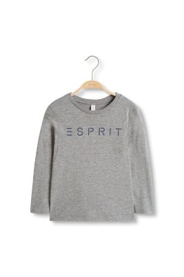 Logo long sleeve top in cotton-jersey
