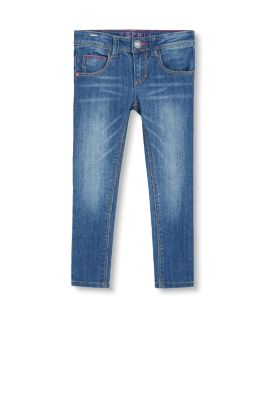 Basic Stretch-Jeans mit Herz-Niete