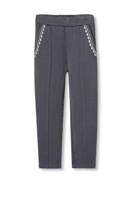 Bestickte Stretch-Treggings