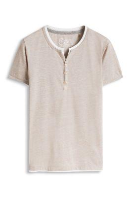 Esprit / T-shirt col tunisien en coton mélangé