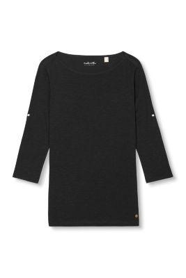 Esprit / Luftiges U-Boot-Shirt, 100% Baumwolle