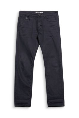 Esprit / 5-pocket jeans in black stretch denim