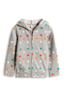 Esprit / Zipp Hoodie aus Baumwoll Sweat mit Print