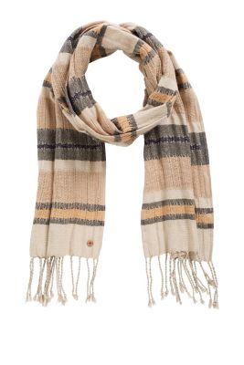 Esprit / Streifenschal aus 100% Baumwolle