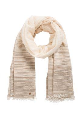 Esprit / Gestreifter Schal mit Lurexglanz