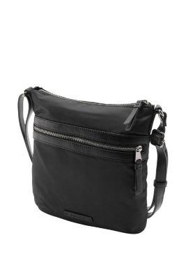 Esprit / Nylontasche mit Besätzen im Leder-Look